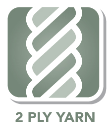 Made with 2 ply yarn for great performance and durability