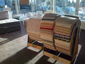 Replacement stands and samples at Calcaria Carpets