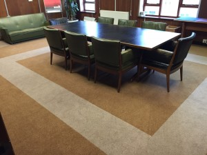 Inside the boardroom at Adam Carpets
