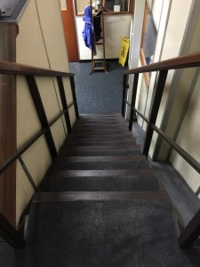 Main staircase from reception to boardroom and showroom
