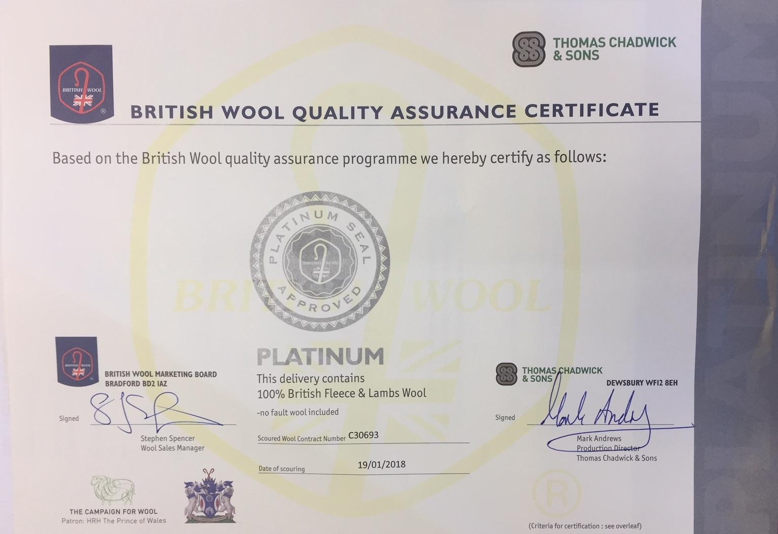 Adam Carpets Increase Commitment To British Wool Platinum Label